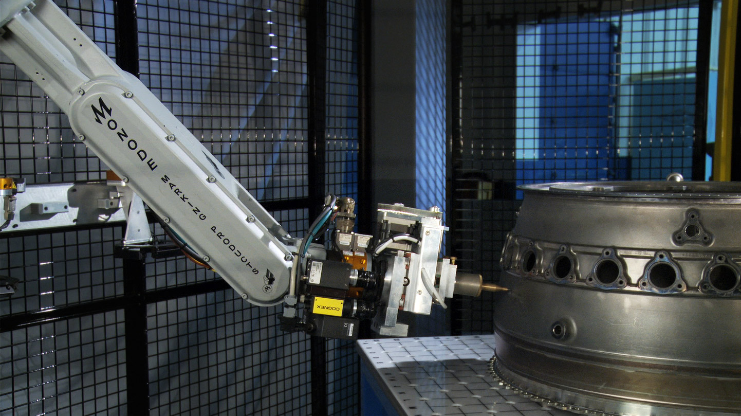 vision guided robot for aerospace component marking